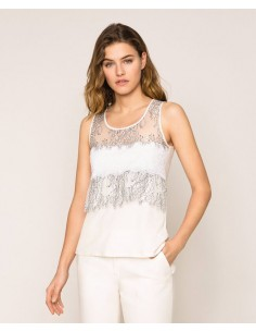 Top con pizzo Twinset